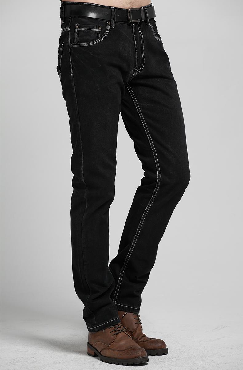 批发采购男式牛仔裤-男士复古黑色牛仔裤批发采购-裤